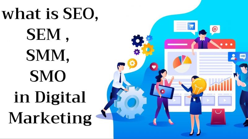 What is SEM, SMM, SEO, SMO in Digital Marketing