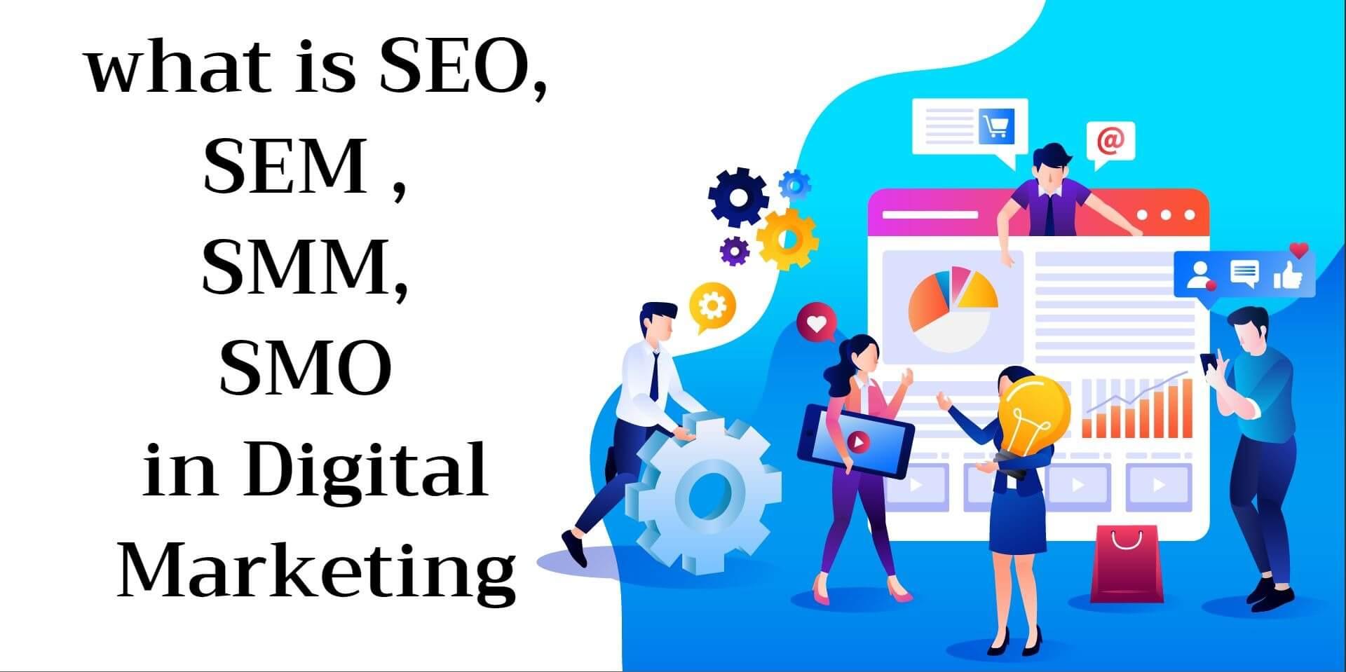 What is SEM, SMM, SEO, SMO in Digital Marketing