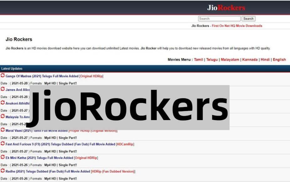 Jio Rockers 2021 – Latest HD Movies Download